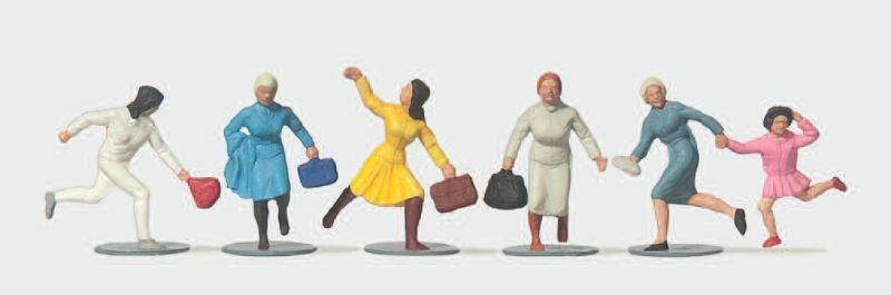 Eilende Reisende Frauen 1:87 / H0