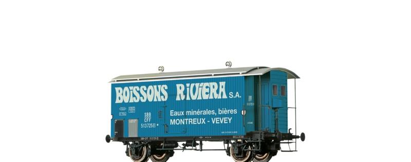 Gedeckter Güterwagen K2 Boissons Riviera, SBB, DC, Spur H0