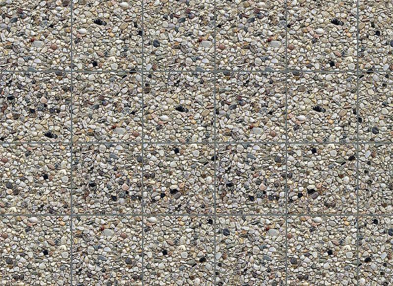 Mauerplatte, Waschbeton 250 x 125 x 0,5 mm H0