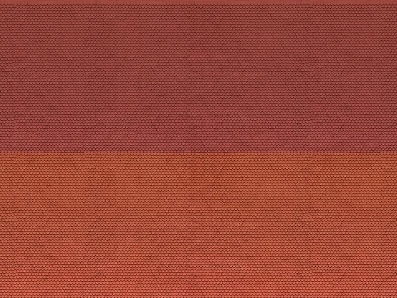 3D-Kartonplatte Biberschwanz, rot, Spur N