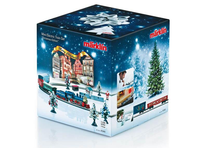 Weihnachts-Startpackung Güterzug mit Gleisoval 230V Spur Z
