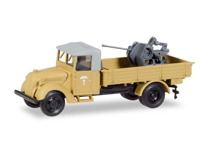 Ford 997 T Fahrerhaus mit Plane und 37mm Flak, 1:87 / H0