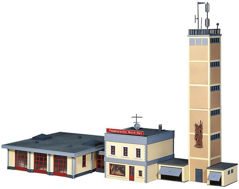 Moderne Feuerwache Bausatz H0