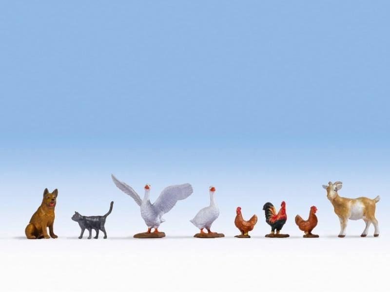 Tiere auf dem Bauernhof Figuren, Spur H0