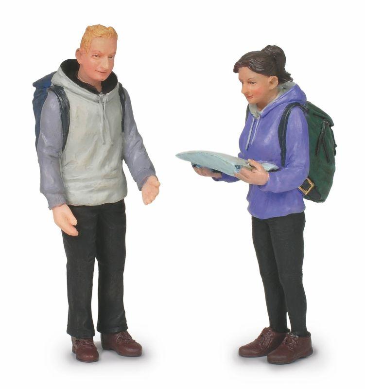 Wanderer, Frau und Mann, Figuren, Spur G