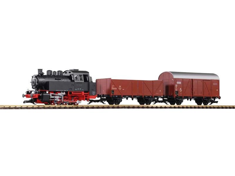 Start-Set Güterzug BR 80 mit 2 Güterwagen und Sound+Dampf, G
