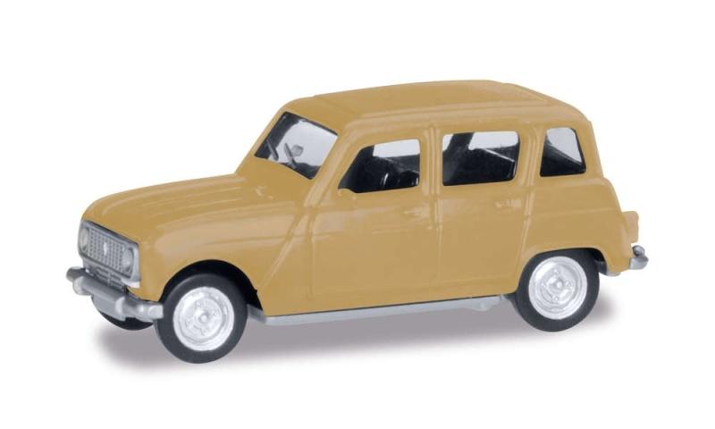 Renault R4, beige, 1:87 / Spur H0