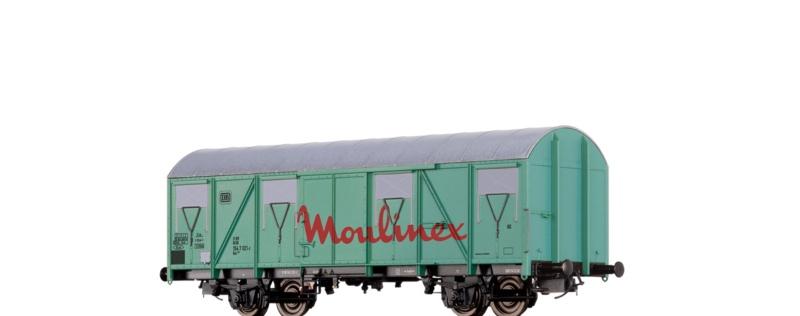 Gedeckter Güterwagen Gos 245 Moulinex der DB, DC, Spur H0