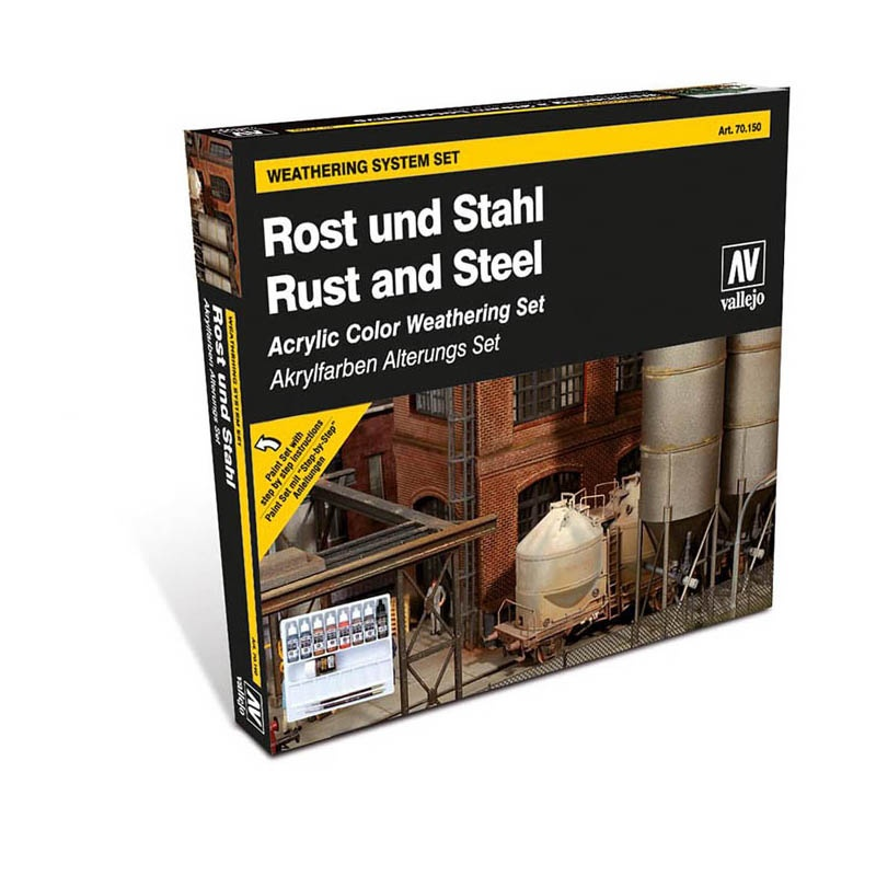 Farb-Set, Rost & Stahl, 8 x 17 ml