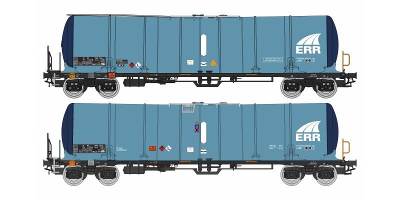 2-tlg Set Zacns 98 ERR, blau, Ep. VI, DC, H0