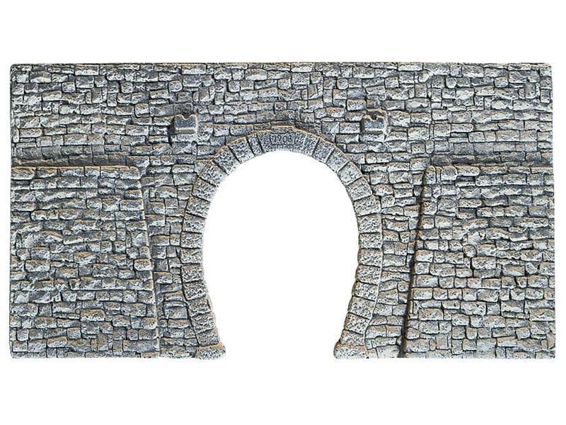Tunnel-Portal, 1-gleisig, 16 x 9 cm Spur N