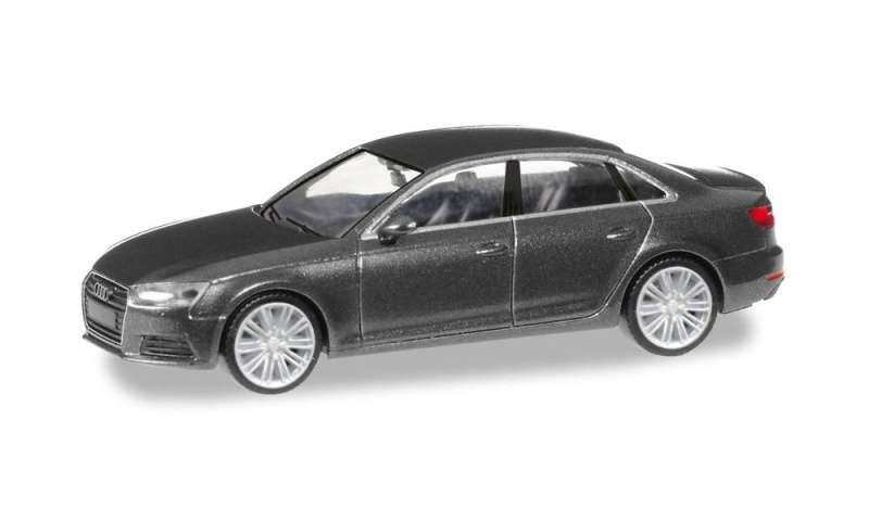 Audi A4 Limousine, daytonagrau metallic, 1:87 / Spur H0