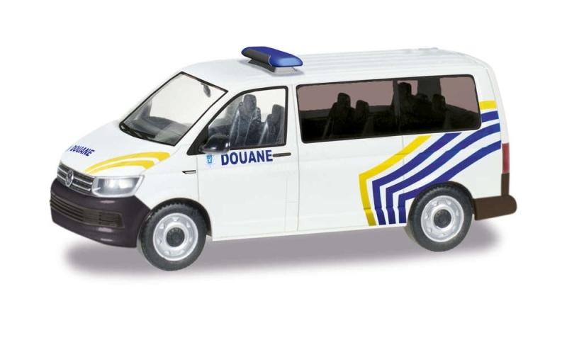VW T6 Bus Zoll Belgien / Douane, 1:87 / Spur H0