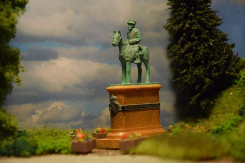 Historisches Reiterdenkmal, Spur H0 (Resin-Fertigmodell)