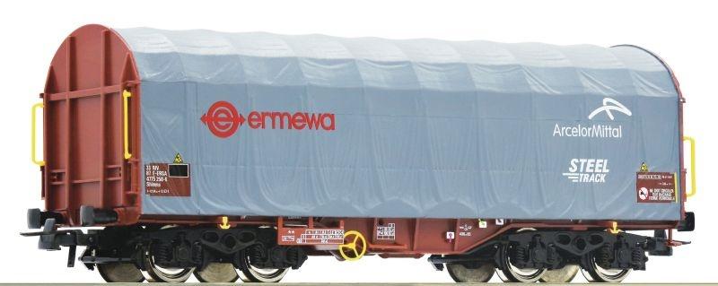 Schiebeplanenwagen Shimms der ERMEWA, DC, Spur H0