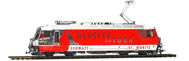 E-Lok der RhB Ge 4/4 III 651 Glacier on Tour, DC, Spur H0