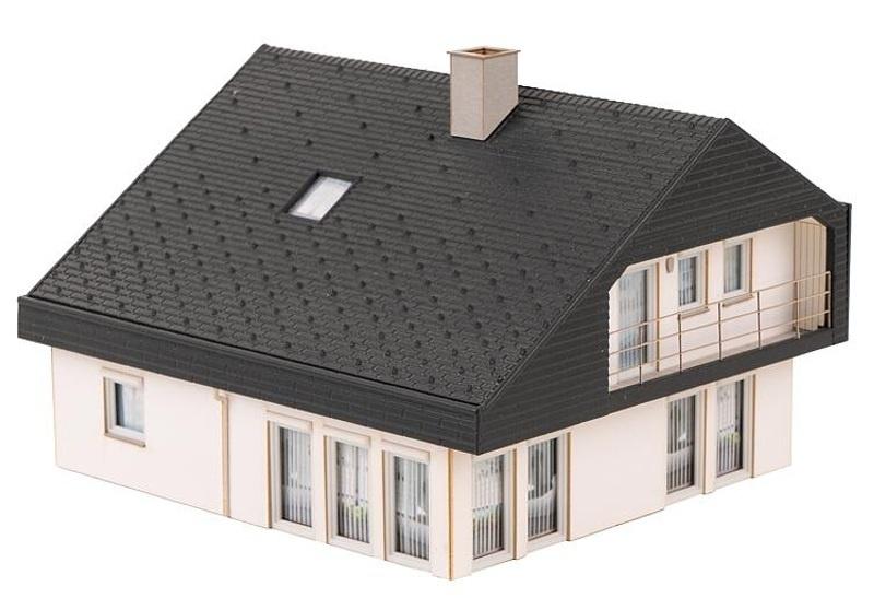 Wohnhaus mit Plattendach Bausatz, Spur H0