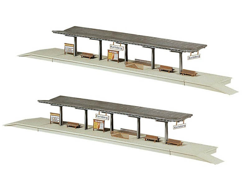 2 Bahnsteige Bausatz N