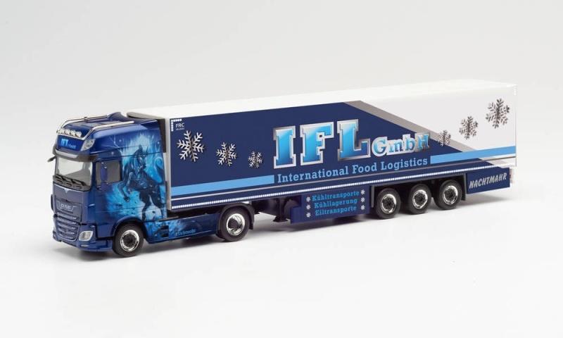 DAF XF SSC Kühlkoffer-Sattelzug IFL / Nachtmare, 1:87 / H0