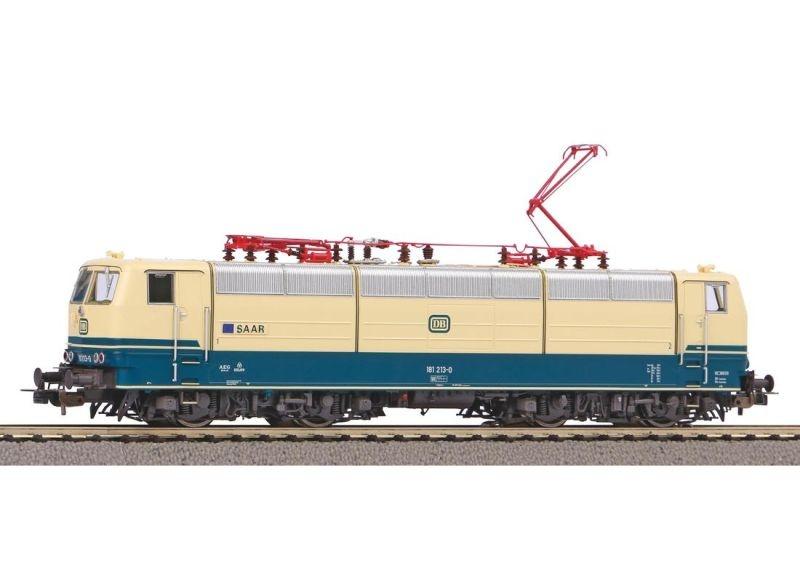 E-Lok BR 181.2 der DB Saar beigeblau, Ep. IV, AC, Spur H0