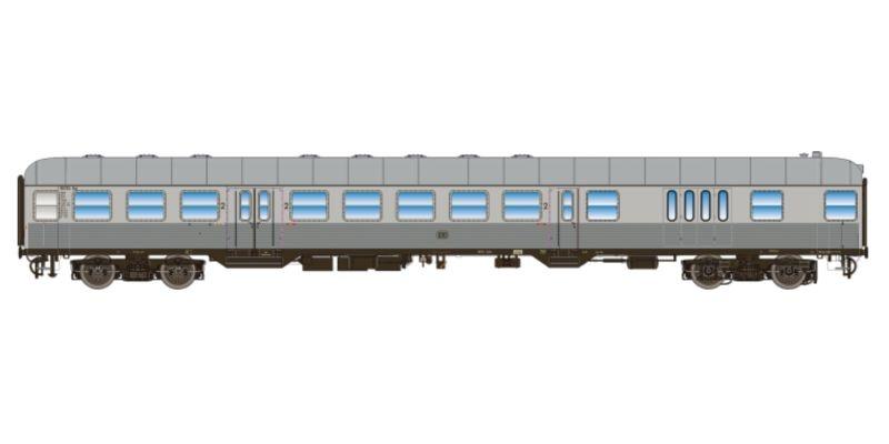 n-Wagen, BD4nf-59, Steuerwagen, DB, Ep. III, silber, DC, H0