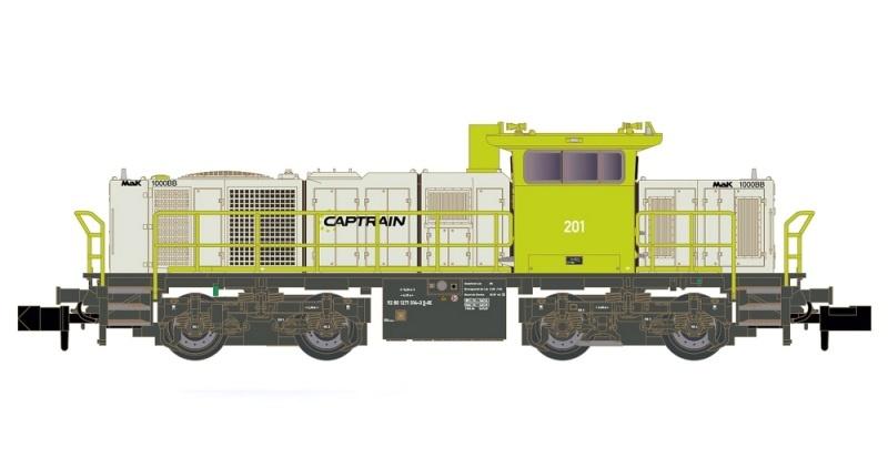 Diesellok Vossloh G1000 BB Captrain, Ep.VI, Spur N