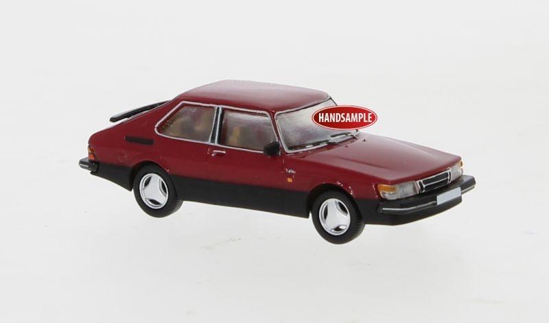 Saab 900 Turbo dunkelrot, 1986, 1:87 / Spur H0