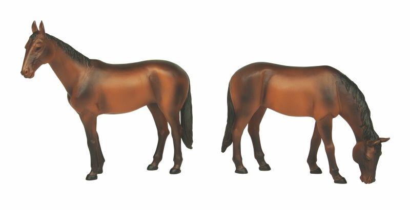 Pferde stehend und grasend, Figuren, Spur G