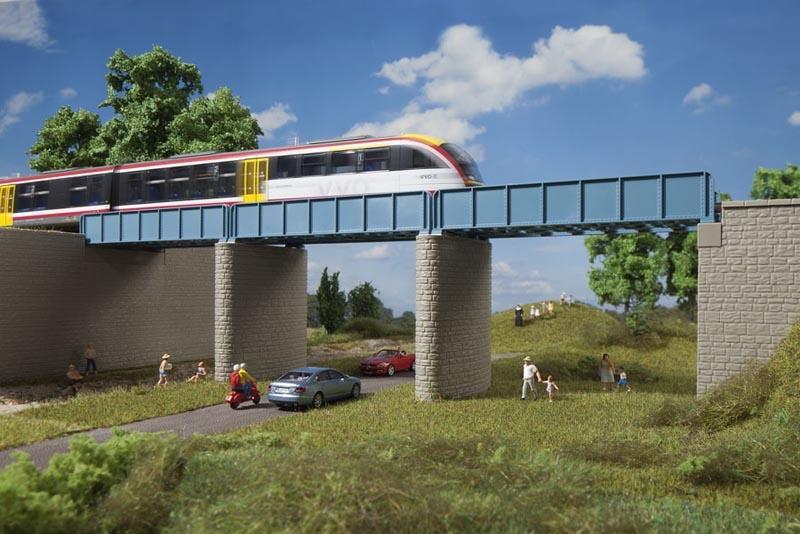 Erweiterung Blechträgerbrücke, Bausatz, Spur H0 / Spur TT
