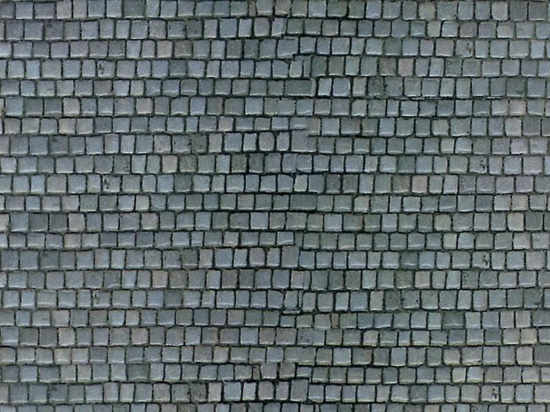 Mauerplatte Pflasterstein aus Karton, 25 x 12,5 cm, Spur H0