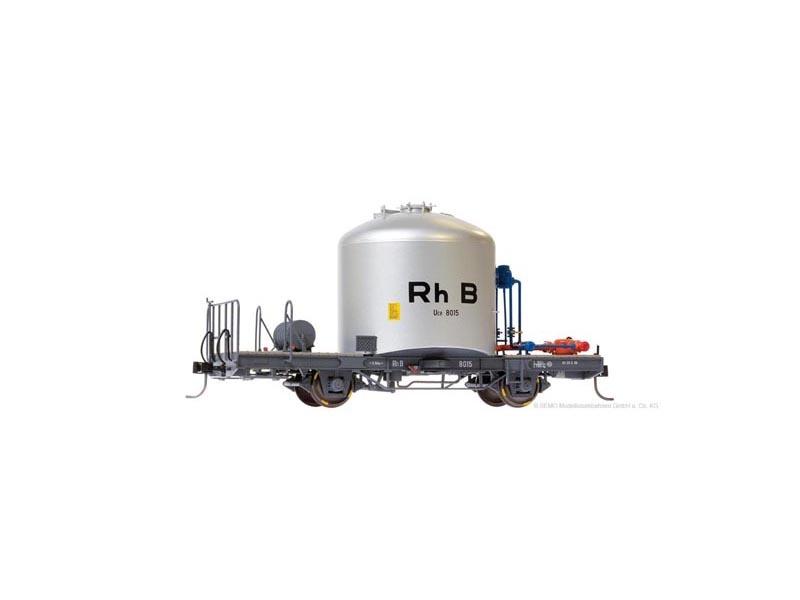 RhB Uce 8015 Zementsilowagen RhB mit Verrohrung, Spur 0m