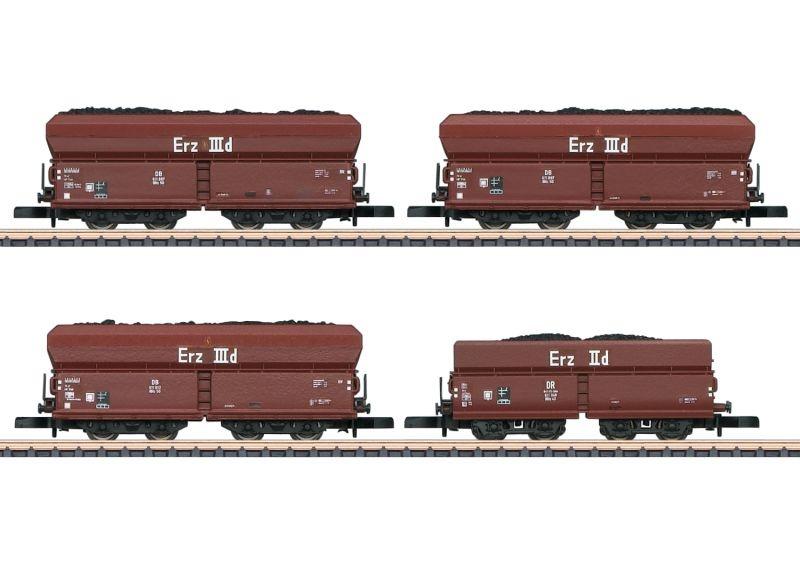 Güterwagen-Set Kohlenverkehr der DB, Spur Z