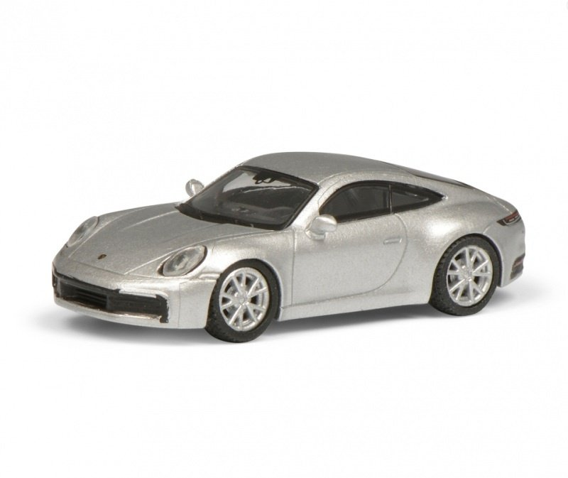 Porsche 911 Carrera S Coupé (992), silber, 1:87