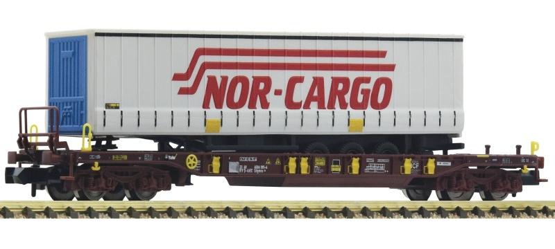 Taschenwagen T3 der AAE, Nor-Cargo Auflieger, DC, Spur N