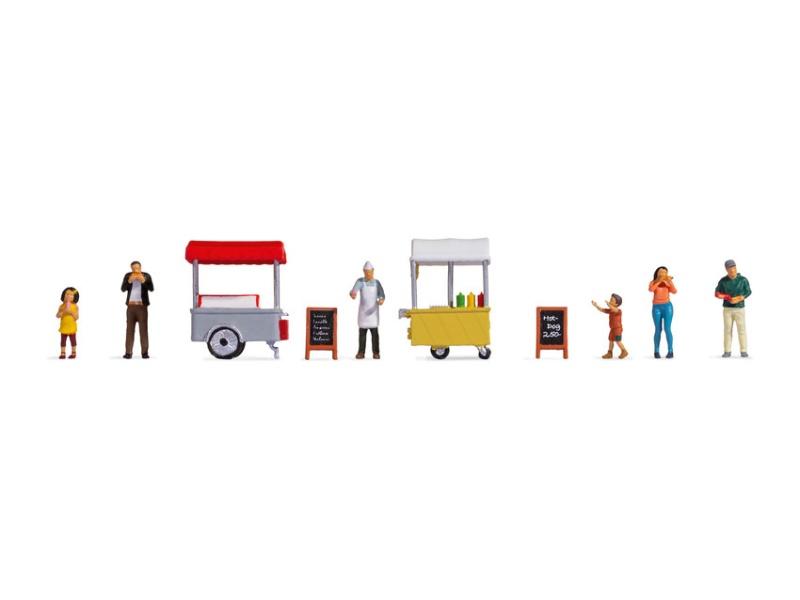 Figuren-Themenwelt Eis- und Hotdog-Wagen, Spur H0