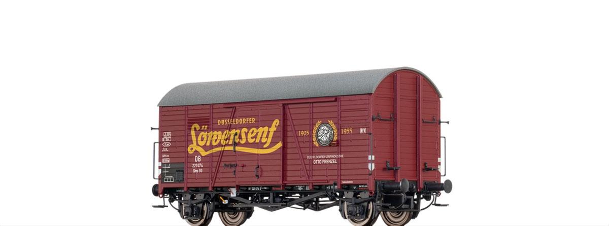 Gedeckter Güterwagen Gms 30 Löwensenf der DB, DC, Spur H0