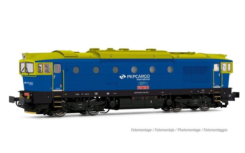 Diesellok D753.7, PKP Cargo, blau/hellgrün, Ep.V-VI, DC, H0