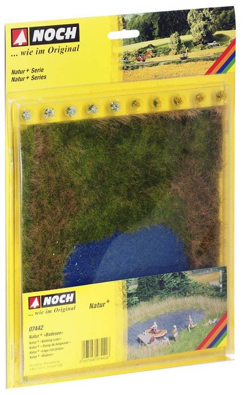Natur+ Badesee dreifarbig, 22 x 20 cm, 10 Grasbüschel