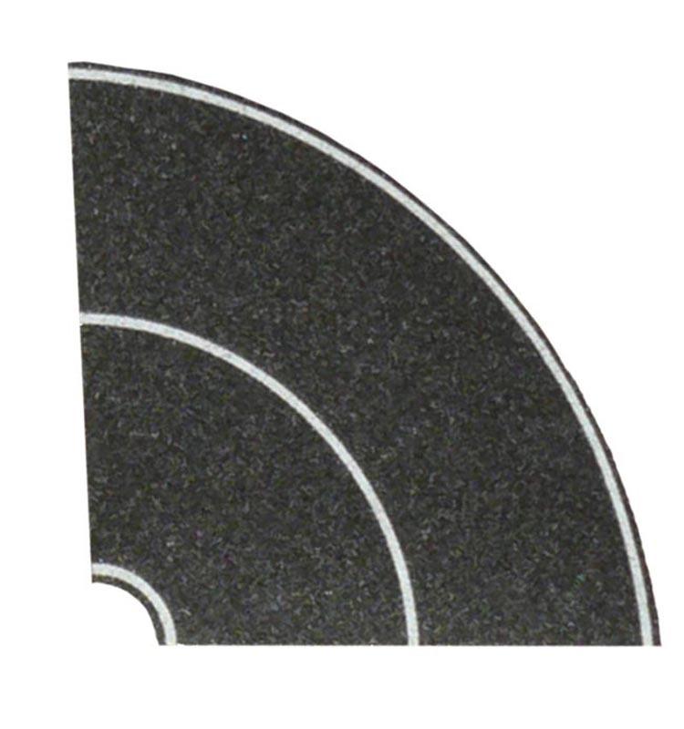 Kurven 4 Stück, 90°, Asphalt, Spur H0