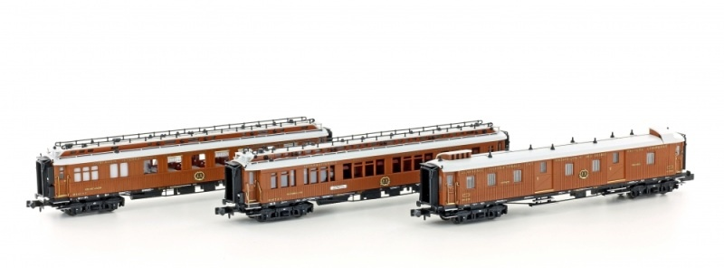 3tlg. CIWL Set 2 WNC-Express Schlaf/Speise/Gepäck, I, Spur N