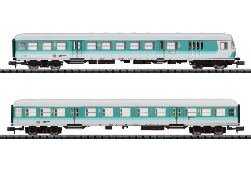 Personenwagen-Set Nahverkehr der DB, Minitrix Spur N