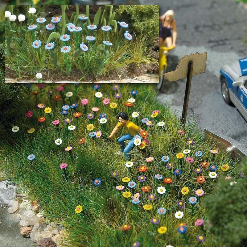 Sommerblumen (120 Stück), Spur H0