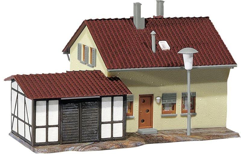 Siedlerhaus mit Anbau Bausatz, Spur H0