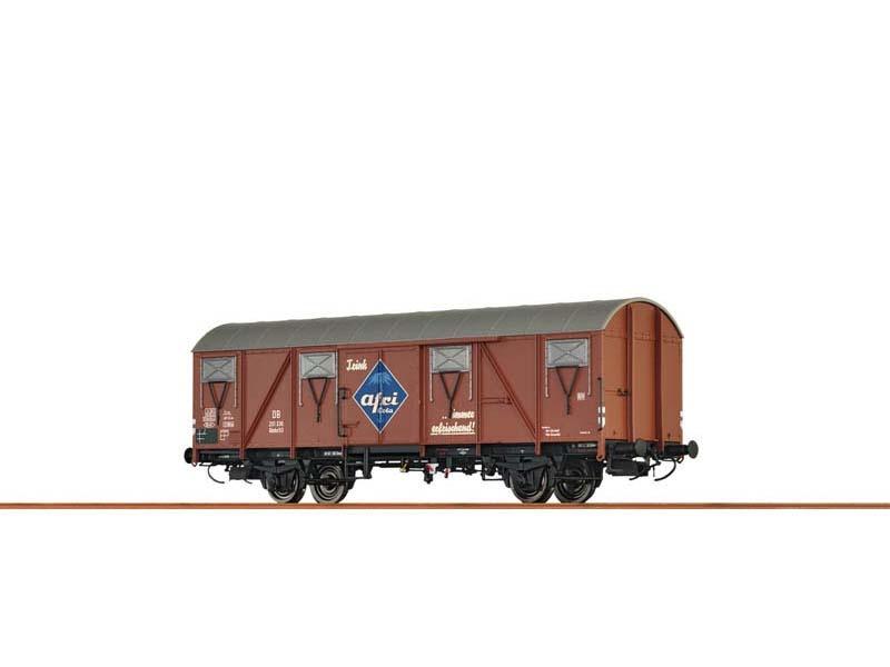 Gedeckter Güterwagen Glmhs50 der DB, III, Afri Cola, Spur N