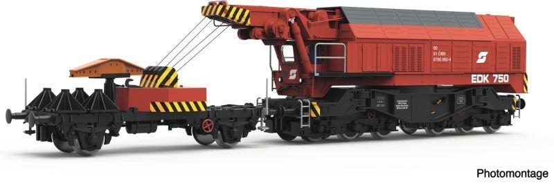 Digital-Eisenbahndrehkran 750 der ÖBB, Sound, DC, Spur H0