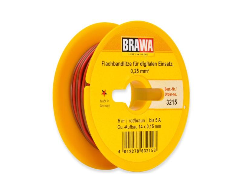 Doppellitze 0,25 mm², 5 m Spule, braun/rot