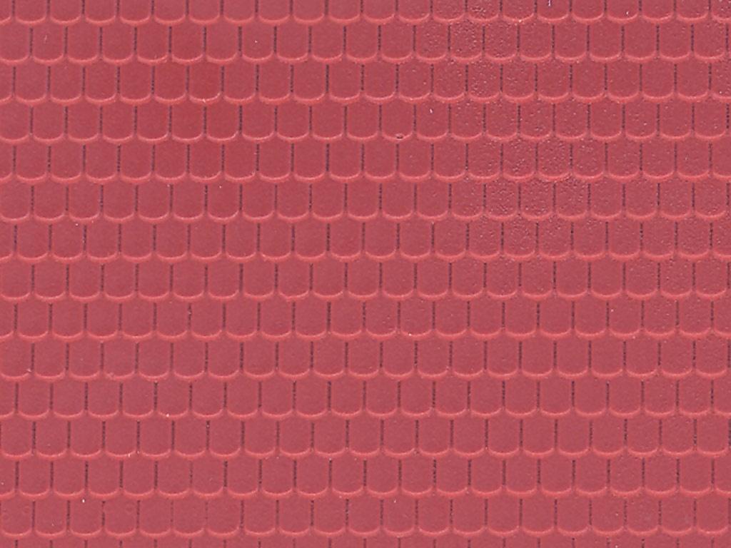 Dachplatte Ziegel aus Kunststoff, 21,8 x 11,9 cm, Spur H0
