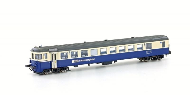Autoverladezug Steuerwagen BDt BLS, Ep.V, creme/blau, Spur N