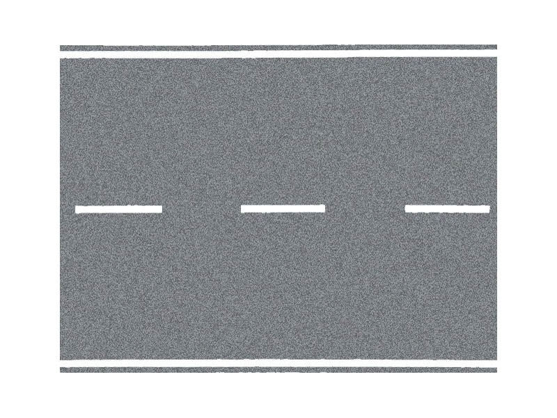 Bundesstraße, grau, 100 x 8 cm Spur H0