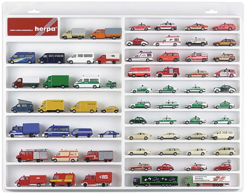 PKW/Transporter-Schaukasten für 1:87-Modelle